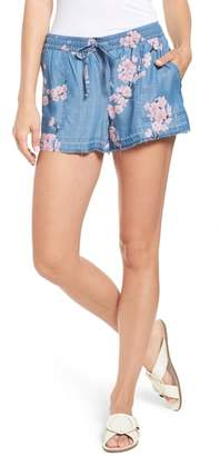 BILLY T Released Hem Chambray Shorts