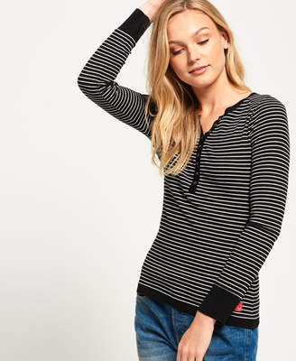 Superdry Essential Rib Grandad Top