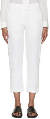 Ann Demeulemeester White Linen Keating Trousers
