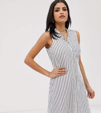 Vero Moda Tall stripe button front mini dress
