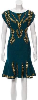 Herve Leger Alyona Beaded Dress w/ Tags