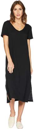Allen Allen Short Sleeve V-Neck Long Dress Women's Dress