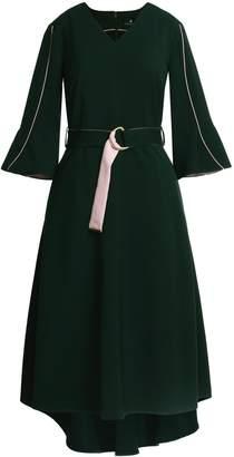Emily Lovelock Dress With Contrast Trim