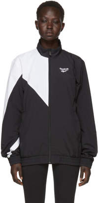 Reebok Classics Black and White Lost and Found Track Jacket