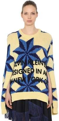 Calvin Klein Open Sleeves Wool Intarsia Sweater