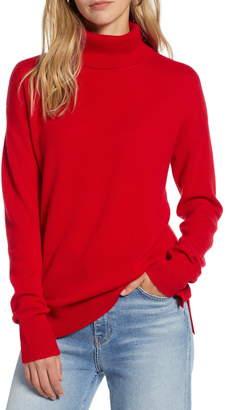Halogen Cashmere Turtleneck Sweater