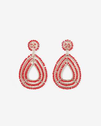 Express Wrapped Beaded Teardrop Earrings