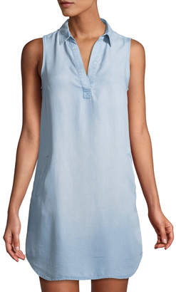 Dex Chambray Sleeveless Tunic Shirtdress