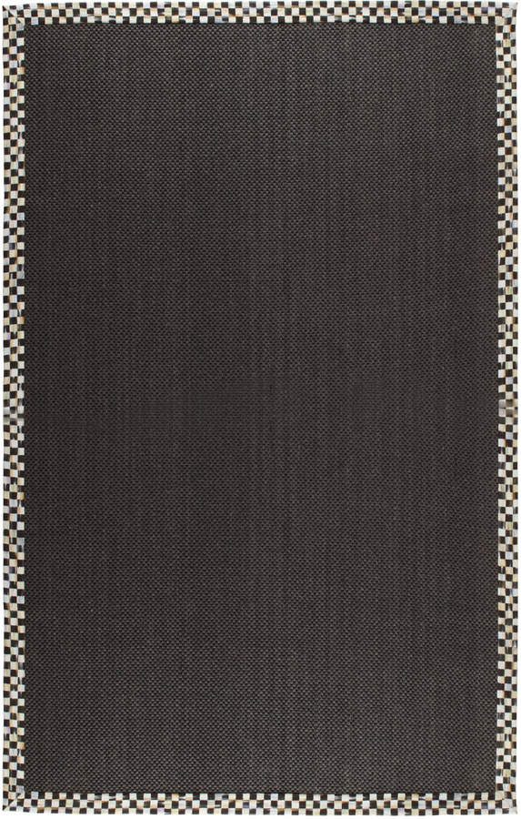 Mackenzie Childs MacKenzie-Childs Courtly Check Black Sisal Rug, 6' x 9'