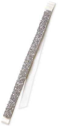 Badgley Mischka Silver-Tone Crystal Ribbon Sash