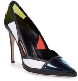 Aperlaï Colorblock Stilleto Pumps
