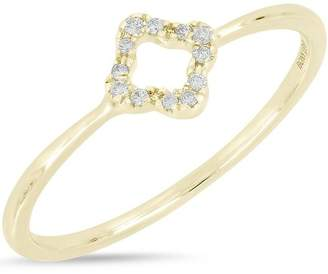 Bony Levy 18K Yellow Gold Pave Diamond Open Diamond Ring - 0.04 ctw