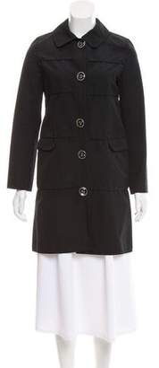 Courreges Knee-Length Button Front Coat