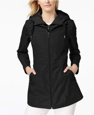 Laundry by Shelli Segal Cinched-Waist Hooded Anorak with Bib