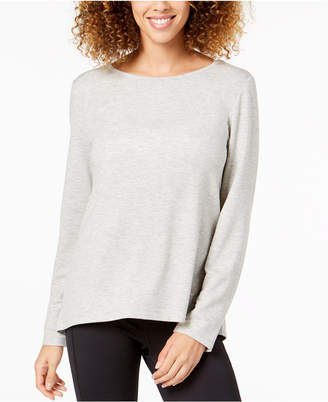 Ideology Cutout-Back Long-Sleeve T-Shirt