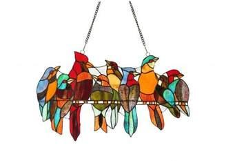 Chloé Tiffany-style Stained Glass Bird Window Panel