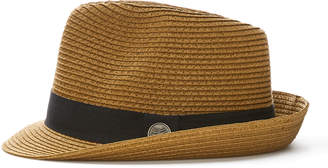 Cubavera Brown Fedora with Black Ribbon
