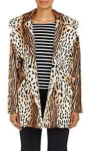 A.L.C. Women's Elara Leopard-Print Fur Coat - Brown