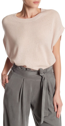 VINCE. Short Sleeve Wool, Cashmere, and Silk Sweater $265 thestylecure.com