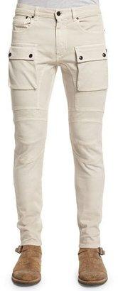 Belstaff Felmore Slim-Fit Cargo Pants, Pale Stone $395 thestylecure.com