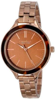 Bulova Caravelle New York Women's 44L128 Analog Display Japanese Quartz Rose Gold Watch