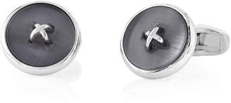 Hart Schaffner Marx Silver-Tone Button Cuff Links