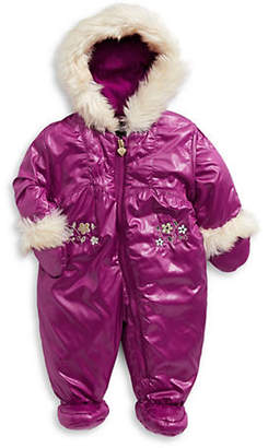 London Fog F.O.G. BY Baby Girl's Faux Fur-Trimmed Snowsuit