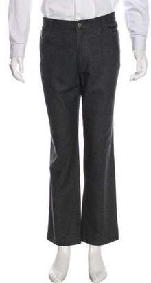 Isaia Wool Five-Pocket Pants