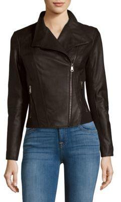 Felix Leather Moto Jacket $375 thestylecure.com
