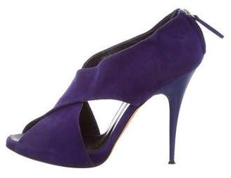 Barneys New York Barney's New York Suede Crossover Pumps