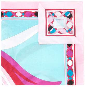Emilio Pucci colour block scarf