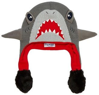 ABG Accessories Shark 'Squeez and Flap' Fun Cold Weather Laplander Hat, Little Boys, Age 4-7