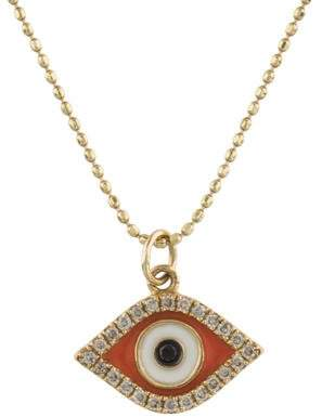 Sydney Evan 14K Diamond & Enamel Evil Eye Pendant Necklace