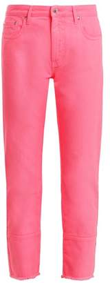 Msgm - High Rise Straight Leg Jeans - Womens - Pink