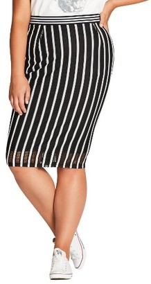 Plus Size Women's City Chic Game Day Skirt $59 thestylecure.com