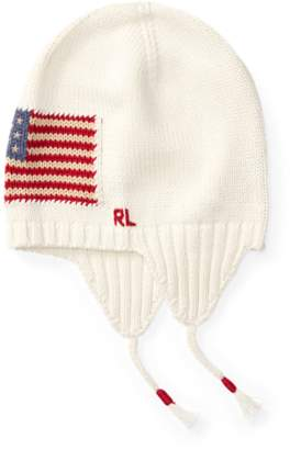 Ralph Lauren Flag Earflap Hat