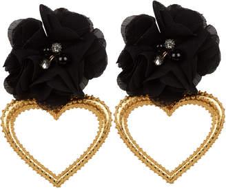 Mallarino Margot Heart Flower Earrings
