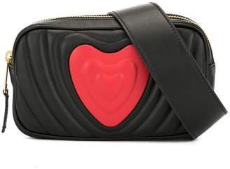 Escada Heart quilted belt bag