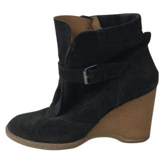 Vanessa Bruno Navy Suede Ankle boots