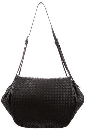 Bottega VenetaBottega Veneta Intrecciato Leather Messenger Bag