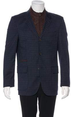 Johnston & Murphy Plaid Layered Sport Coat w/ Tags