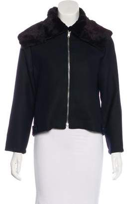 Yang Li Virgin Wool Minimal Harington Jacket