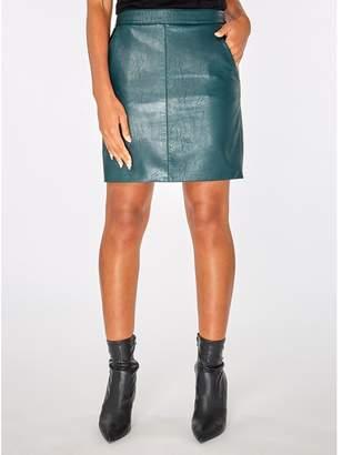 Dorothy Perkins Green Pocket Mini Skirt