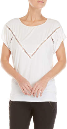 Blanc Noir White Glider Ladder Trim Tee