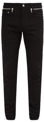Alexander McQueen Slim Leg Zip Jeans - Mens - Black