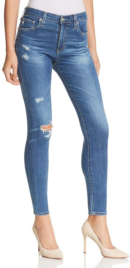 Buy Farrah High Rise Skinny Ankle Jeans in 14 Years Blue Nile Destructed!