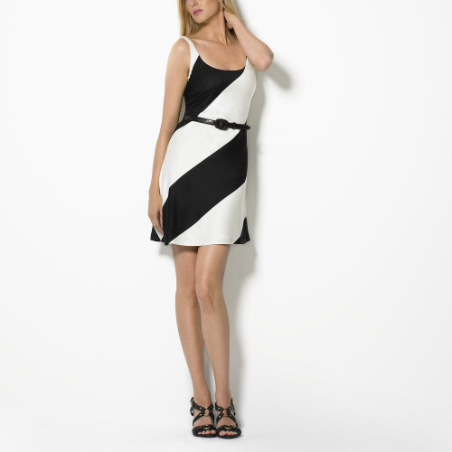 Biarritz Silk Striped Dress