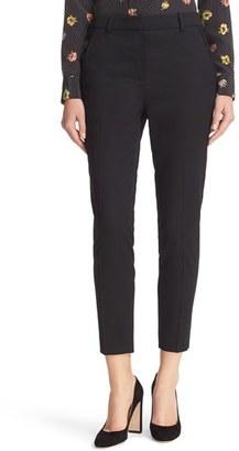 Women's The Kooples Lace Trim Crop Suit Pants $285 thestylecure.com