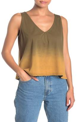 Angie Ombre V-Neck Crop Tank Top