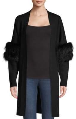 Kobi Halperin Joanna Fox Fur Trim Sweater
